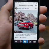 Mercedes-Benz Instagram Uygulaması: Car Builder