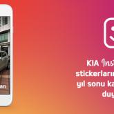 KIA Yılbaşı Yarışmasını Instagram'ın Sticker Özelliği İle Duyurdu
