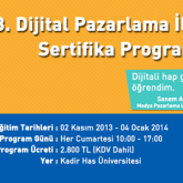 3. Dijital Pazarlama İletişimi Sertifika Programı