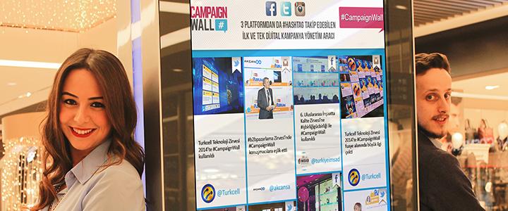 İnteraktif Sosyal Medya Ekranı: CampaignWall