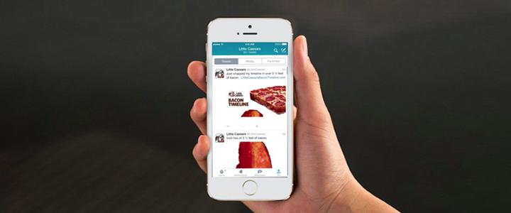 Little Caesars Twitter Kampanyası: Bacon Timeline