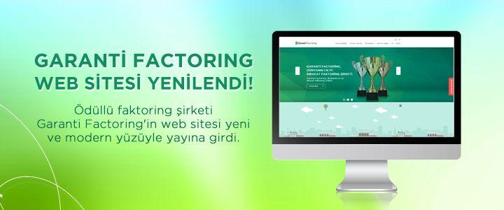 Garanti Factoring'in Web Sitesi Yenilendi
