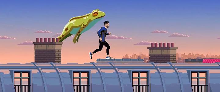 Müşterilerin Yeni Model Nike Ayakkabıyı Denediği 16-bit Oyun