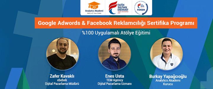 Analytics Akademi Google AdWords & Facebook Reklamcılığı Eğitimi  Sertifika Programı Başlıyor!