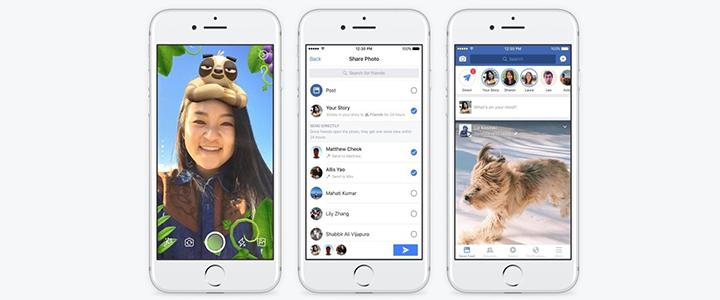 Facebook Stories'e Artırılmış Gerçeklik Çizimleri ve Boomerang Eklenebilecek