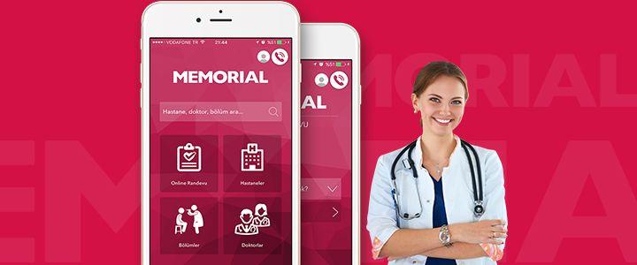 Memorial Hastaneleri Mobil Uygulaması Yayına Girdi!