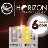 egegen'e HORIZON INTERACTIVE AWARDS'dan 6 ödül!