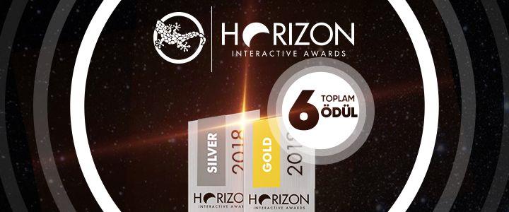 egegen'e HORIZON INTERACTIVE AWARDS'dan 6 ödül!
