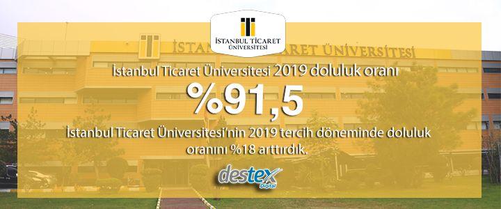 İstanbul Ticaret Üniversitesi'nin 2019 tercih dönemi doluluk oranı %18 arttı!