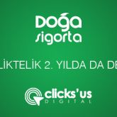 Clicks'us İle Doğa Sigorta İş Birliği 2. Yılında