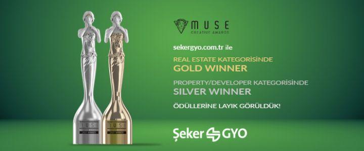 Şeker GYO Web Sitesine Muse Creative Awards'dan İki Ödül!