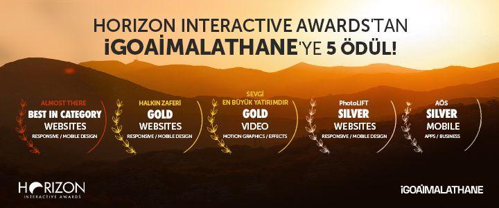 Horizon Interactive Awards'ta iGOAİMALATHANE'ye 5 Ödül Birden!