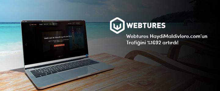 Webtures HaydiMaldivlere.com'un Trafiğini %1692 artırdı!