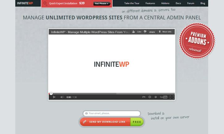 Wordpress çoklu siteler yönetim panel infinitewp