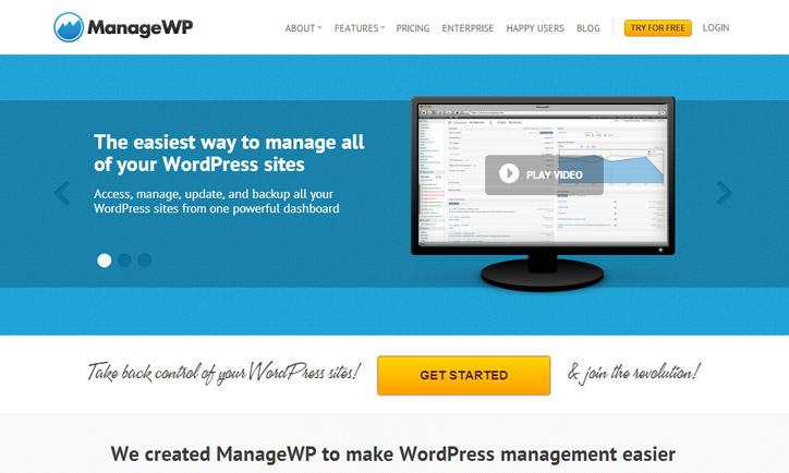 Wordpress siteleri ortak yönetim paneli managewp
