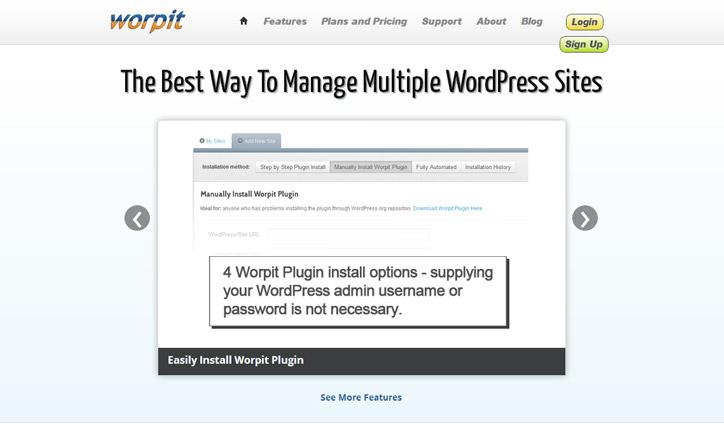 Wordpress siteleri yönetim paneli worpit