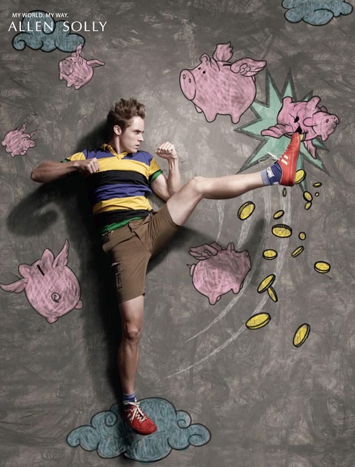 yaratıcı moda reklamı