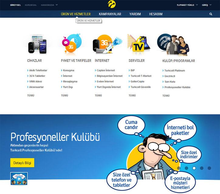 turkcell yeni web sitesi