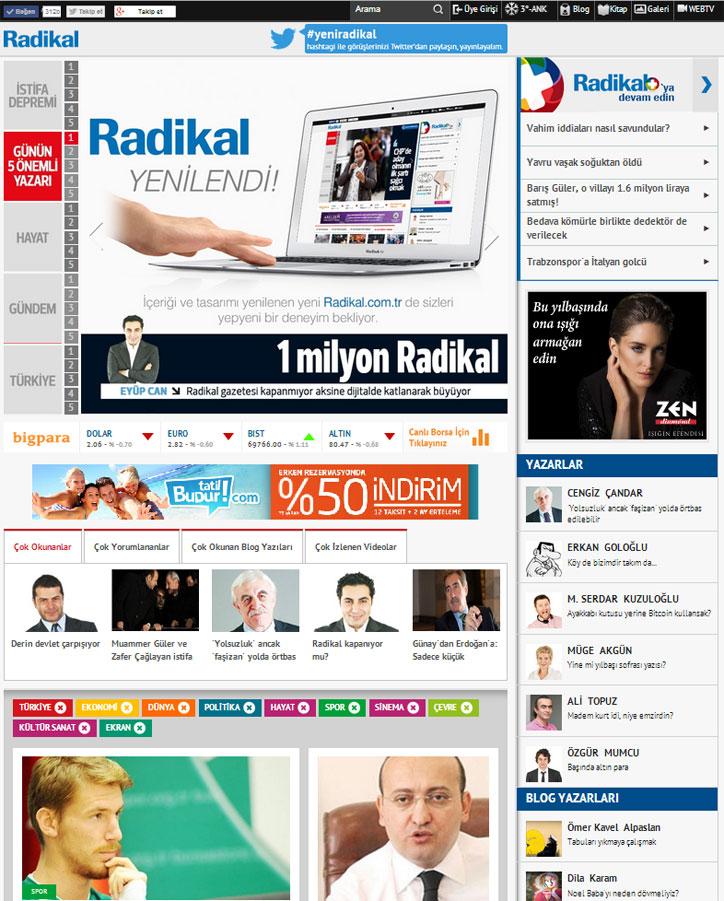 radikal yeni web sitesi
