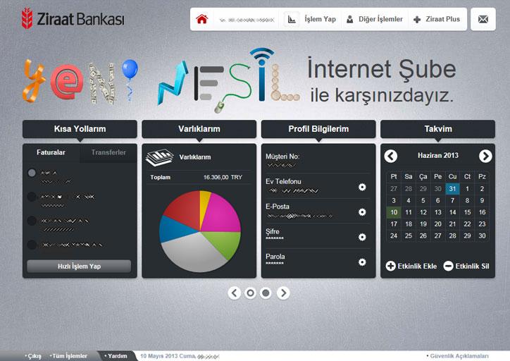 ziraat bankası web sitesi yenilendi