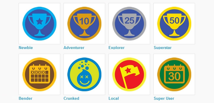 foursquare badges gamification