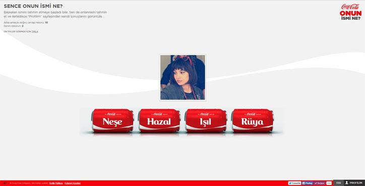 coca cola interaktif oyunu onun ismi ne