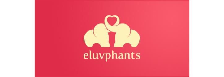 Eluvphants flat logo örneği