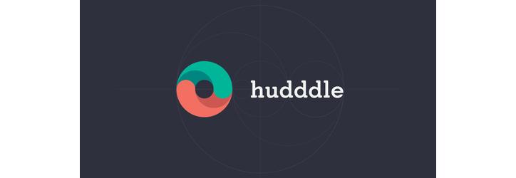 Hudddle flat logo tasarımı