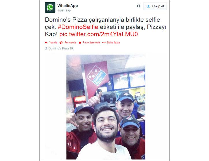 Dominos Pizzadan Selfie Projesi Dominoselfie