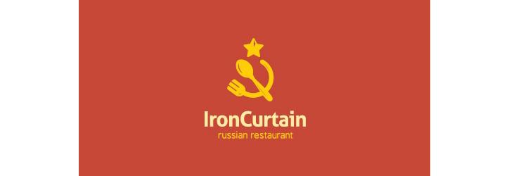 iron-curtain logo tasarımı