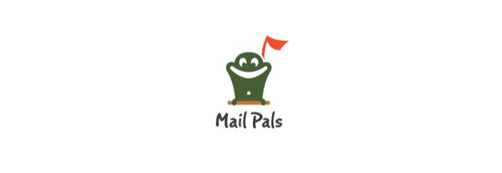 mail-pals flat logo tasarımı
