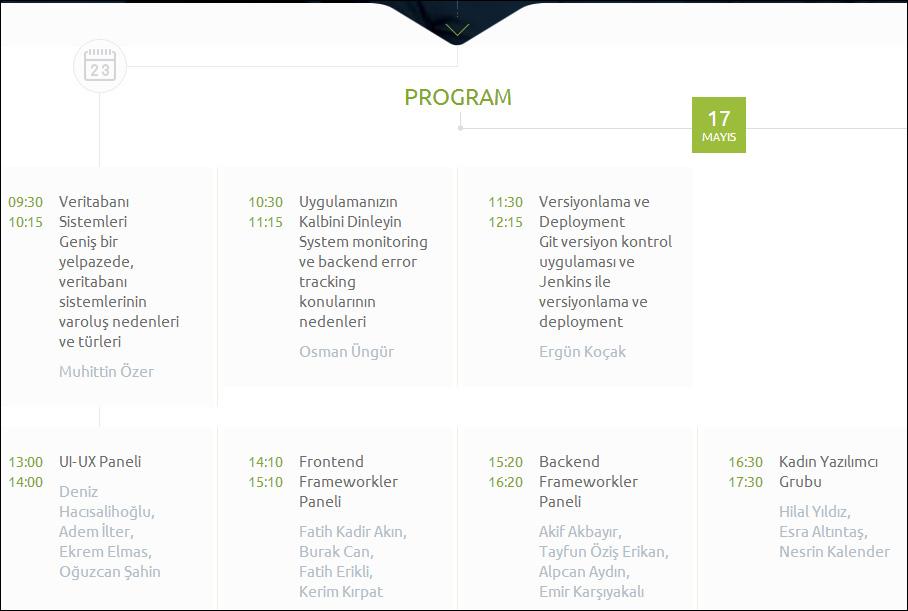 web teknolojileri konferansı program