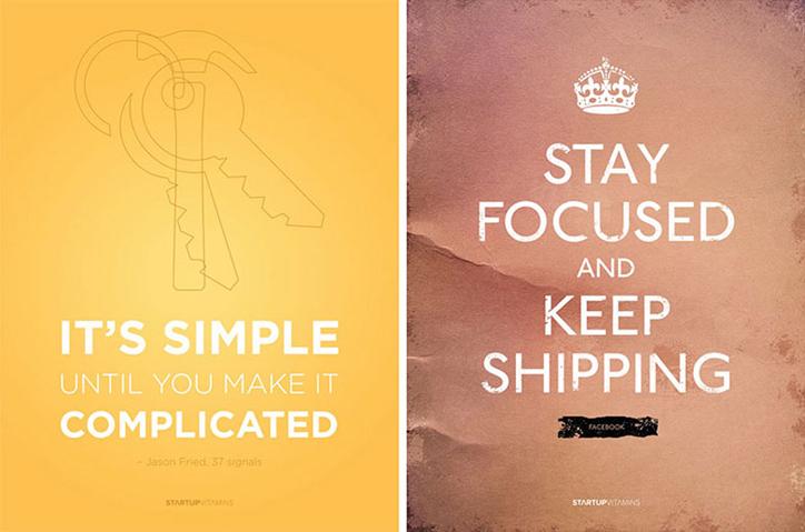 girişimciler için ilham kaynağı poster tasarım örnekleri