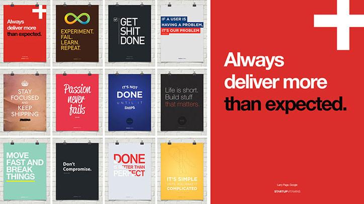 girişimciler için ilham kaynağı poster