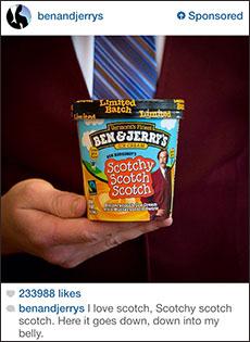 instagram reklam ben jerrys