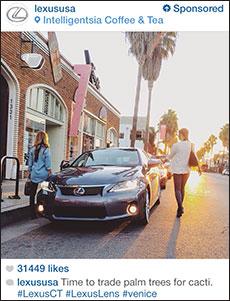instagram reklam kampanyası lexus