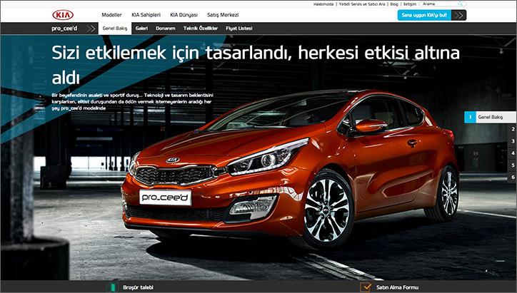 KIA Türkiye kurumsal web sitesi directcomm