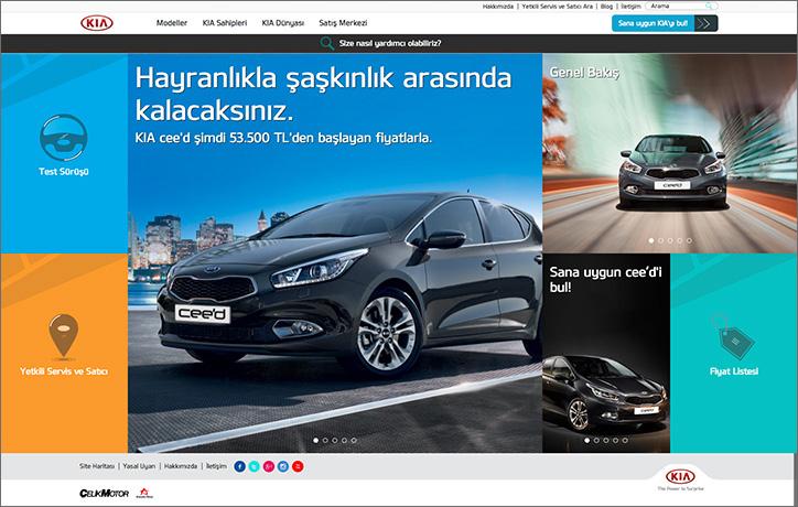 KIA Türkiye kurumsal web sitesii