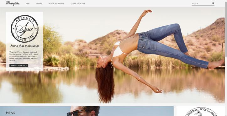 moda markaları web sitesi tasarım örnekleri wrangler