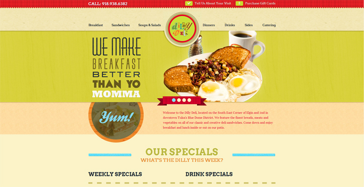 restoran web sitesi dilly deli