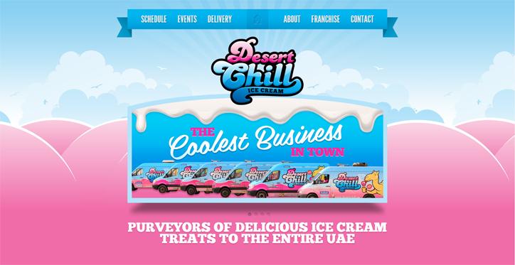 restoranlar için yaratıcı web siteleri desert chill