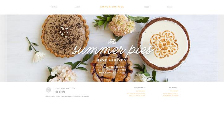 restoranlar için yaratıcı web sitesi emporium pies