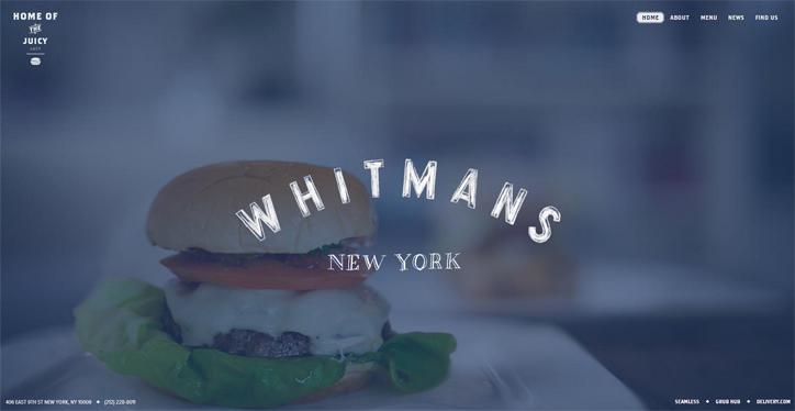 web sitesi örnekleri whitmans