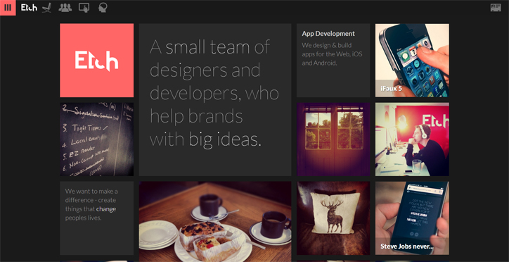 web tasarımda başarılı renk kullanımı örnekleri etch