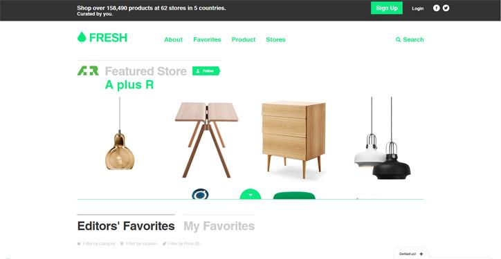 web tasarımda başarılı renk kullanımı örnekleri fresh