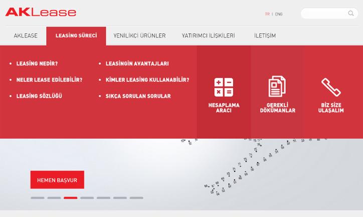 Akbank Aklease Yeni Web Sitesi