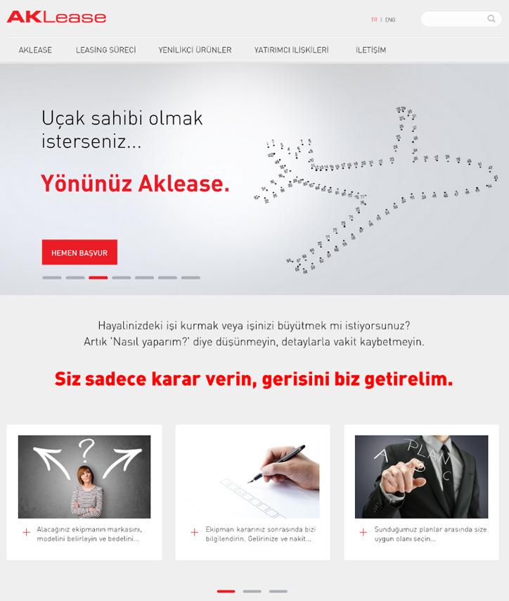 Aklease Yeni Web Sitesi