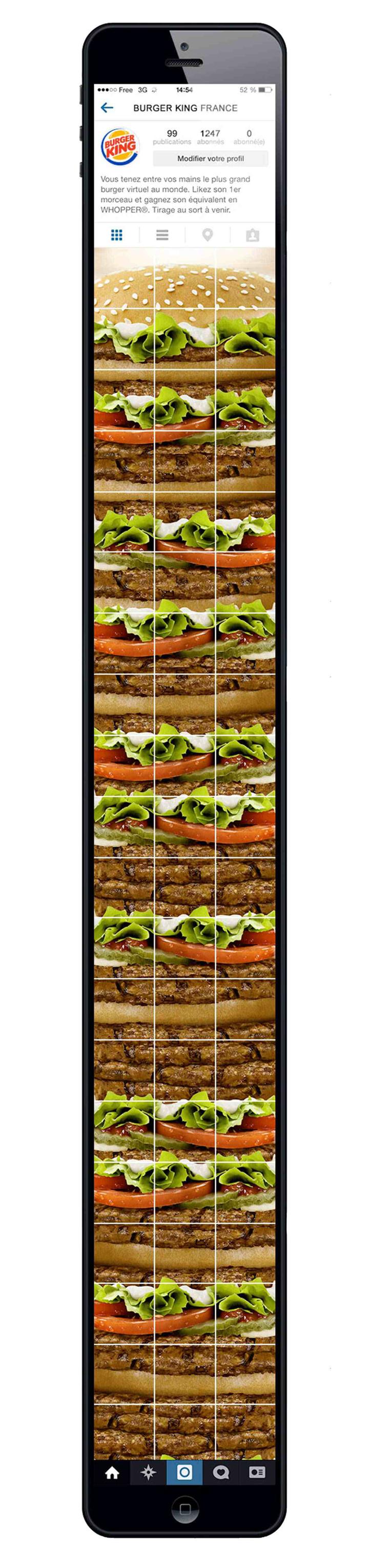 burger king dünyanın en büyük sanal burgeri
