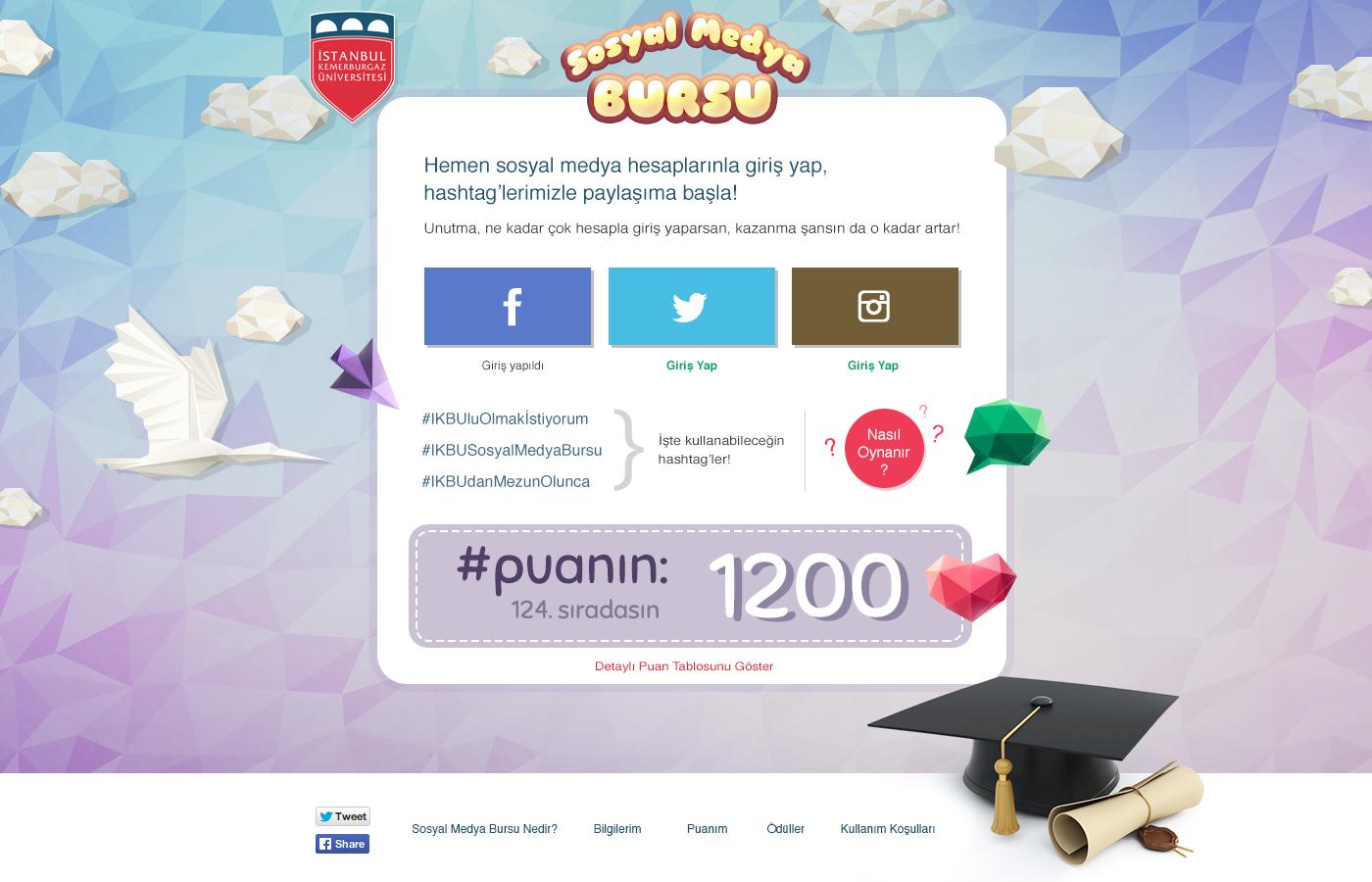 kemerburgaz üniversitesi sosyal medya bursu kampanyası