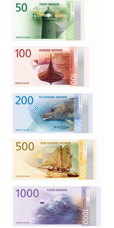 norveç banknotlarının yeni tasarımı belirlendi